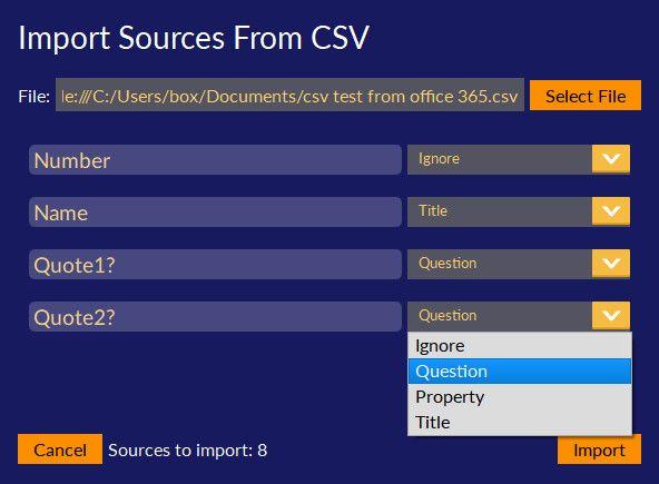 csv import
